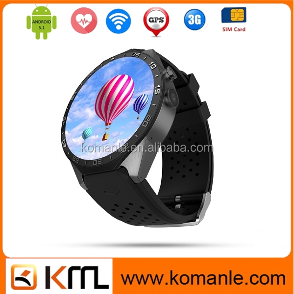 new arrival kw88 video call watch phone MTK 6580 bluetooth GPS Sim smart watch
