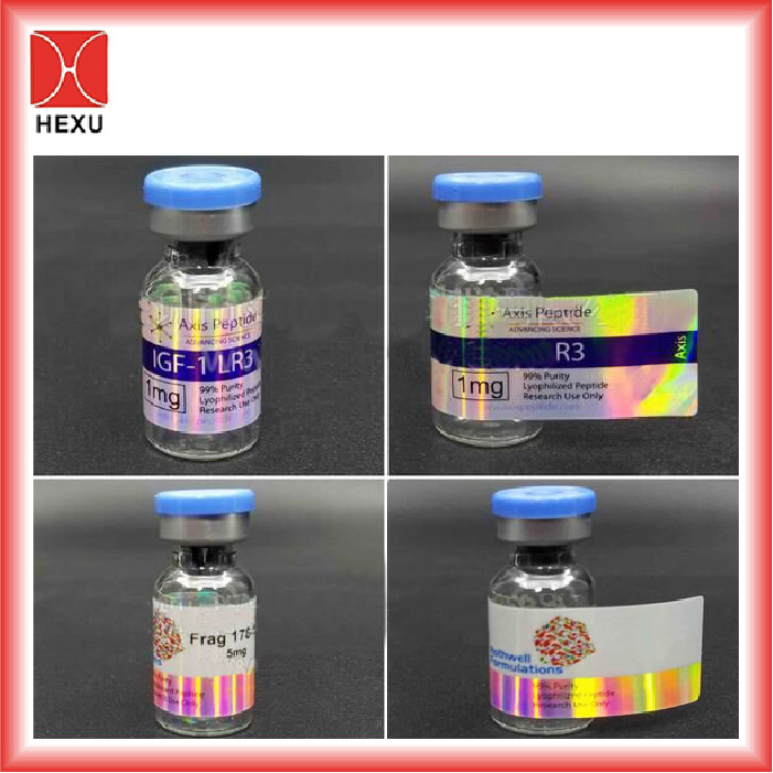 Custom printing steroid 10ml hologram vial label maker testostrone 10ml vial labels for anabolic steroids