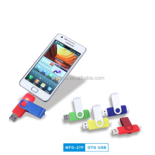 2017 hot new otg usb thumdrive, double port usb otg 4gb, swivel flash drive usb otg