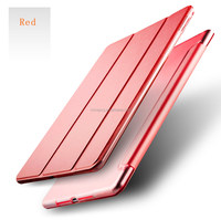 For New iPad 9.7''inch official case, Portable Folding Stand Smart Magnetic Leather case for New ipad