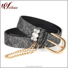 wholesale custom best sale snake skin lady belt