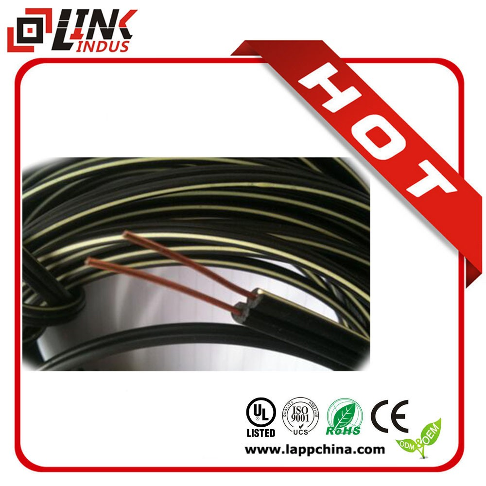 self support 2core drop wire CCS/Flat twin telephone cable/telephone drop wire