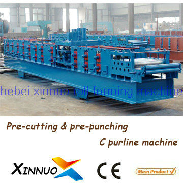 Xinnuo C Purlin Galvanized Steel Roof Truss Purlin Cold Roll Forming Machine