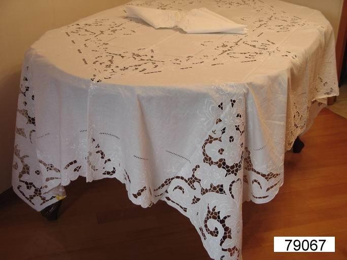 Linge de maison brod main nappe et serviettes nappe de for Ensemble nappe et serviette de table