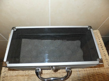 Aluminium Carry Case Box Handle Clear for Make up Tools