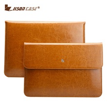 Genuine cow leather business type laptop sleeve bag