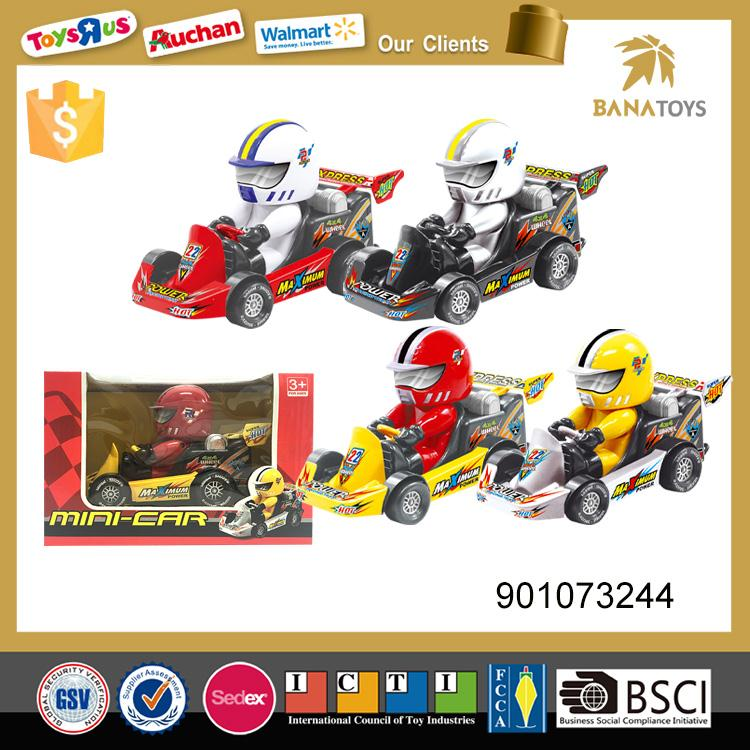 Cute inertia toy racing go kart car