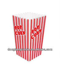 CMYK small size folded paper popcorn box