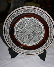 Egyptian Handmade Wooden Decorative Plate