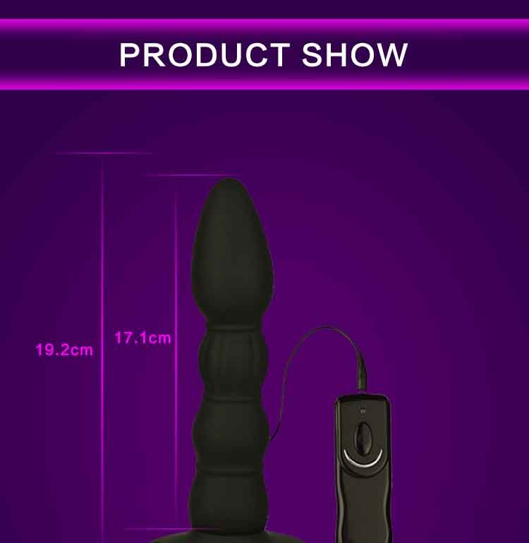 Sex products Silicone Black Anal Butt Plugs Popular Anal Sex Toys Anal Dildo vibrator