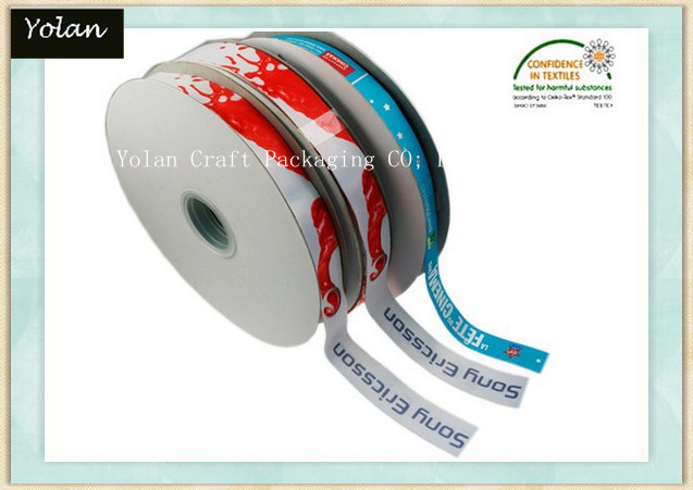 100% Polyester China Solid Color Printed Ribbon Grosgrain Ribbon