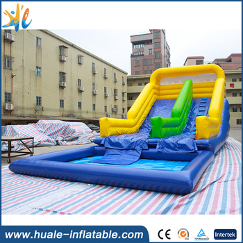 Hight qulity inflatable water slide pool for water park