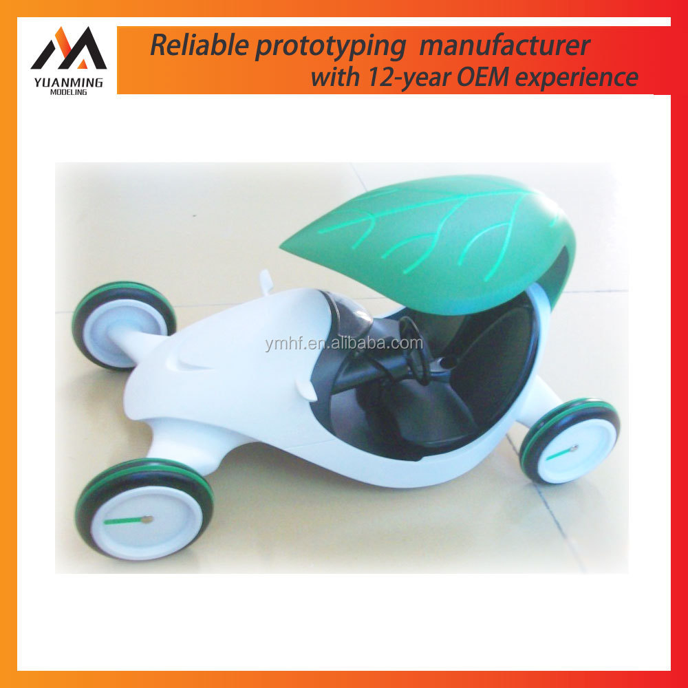 White Plastic Toy Car prototype Custom fabrication