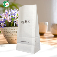 Stand up greaseproof take away fast food kraft paper bag