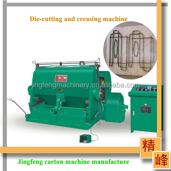 Hebei Dongguang JF-930 carton creasing and die-cutting machine for carton machine with CE