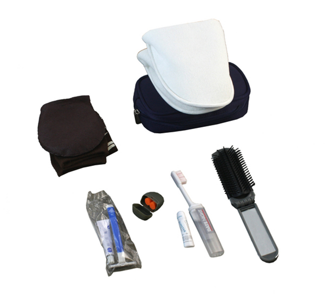 Men disposable inflight travel kit airline amenity kit