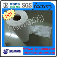 Spunlace Non-woven 100%bamboo nonwoven roll for wipes fabric