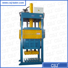 Hydraulic used clothes and textile compress baler machine