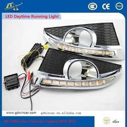 2x1w White High Power Car Led Angle Eyes Leed Car Daytime Running Lights Lamp Drl Vehicle For Chevrolet Captiva 2011 - 2013