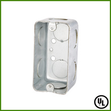 UL listed 4x2 Rectangle Steel Utility Outlet Box