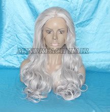 2015 New Style Beauty Cheap grey white Synthetic Hair Lace Front Wig