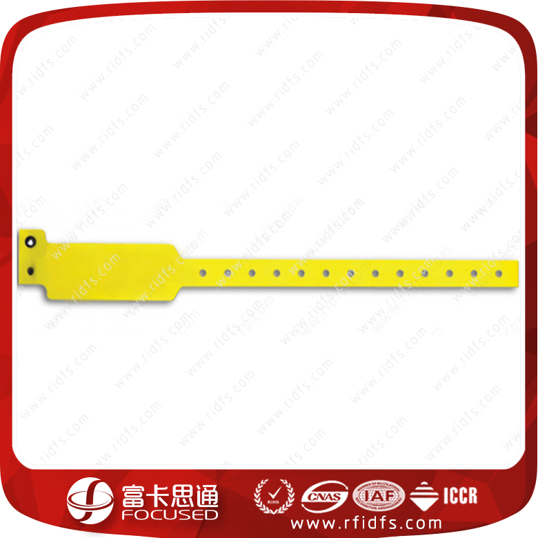 13.56MHz One Time Used PVC Printable Hospital Patient RFID Bracelet