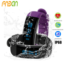 DB03 pulsera inteligente Blood Pressure watch Heart rate monitor cardiaco Fitness Tracker swimming smart wristband IP68