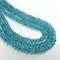 Natural Roundel Loose Gemstone Apatite Beads
