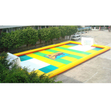 outdoor soap inflatable football field sports playground