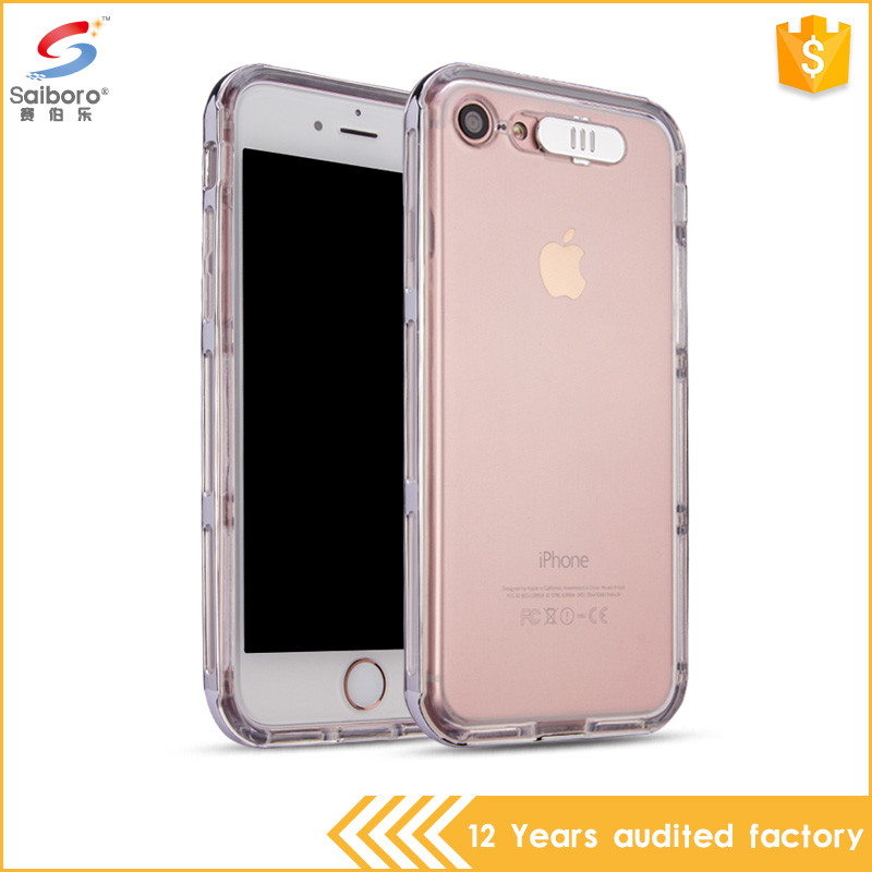 Shockproof plating frame calling flash for iphone 4s transparent phone case