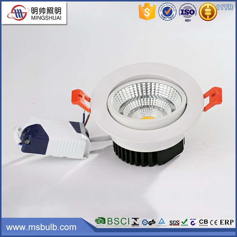 CE RoHS approved Super Bright LED Lights 80mm Cut out Round Downlights