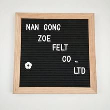 10 x 10 Black Felt Letter Board Includes White letters and Bag and Stand