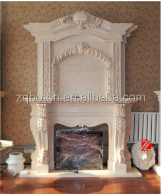 imperial fireplace with lion carvings,yellow stone fireplace