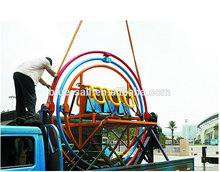 Amusement park equipment 3D Human Gyroscope rides outdoor space ring