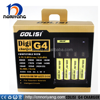 High quality Golisi G4 Intellicharge Battery Charger For 26650/18650/18500/18350/18490/ Golisi battery charger