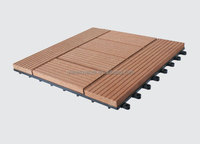 High Quality Interlocking outdoor deck tiles/WPC DIY Floor/ Wood plastic Composite tiles
