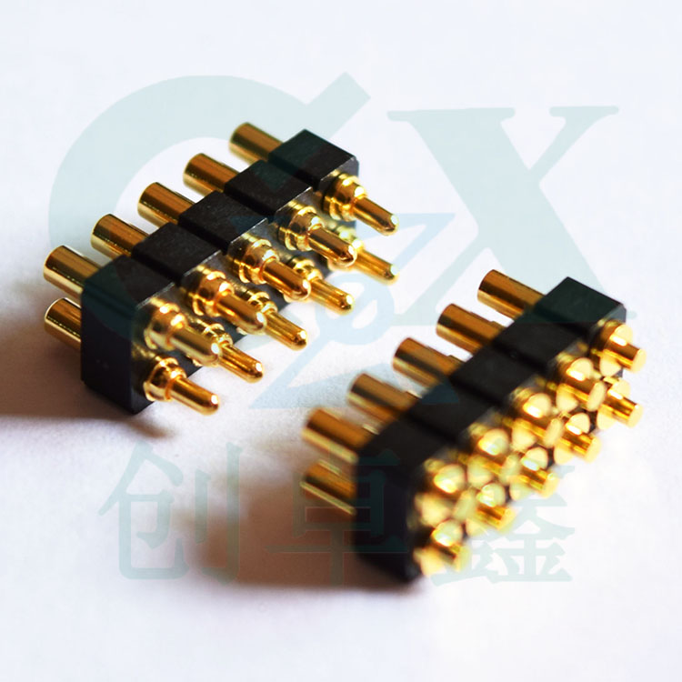 SMT pitch 2.54mm brass spring loaded pogo pin connector