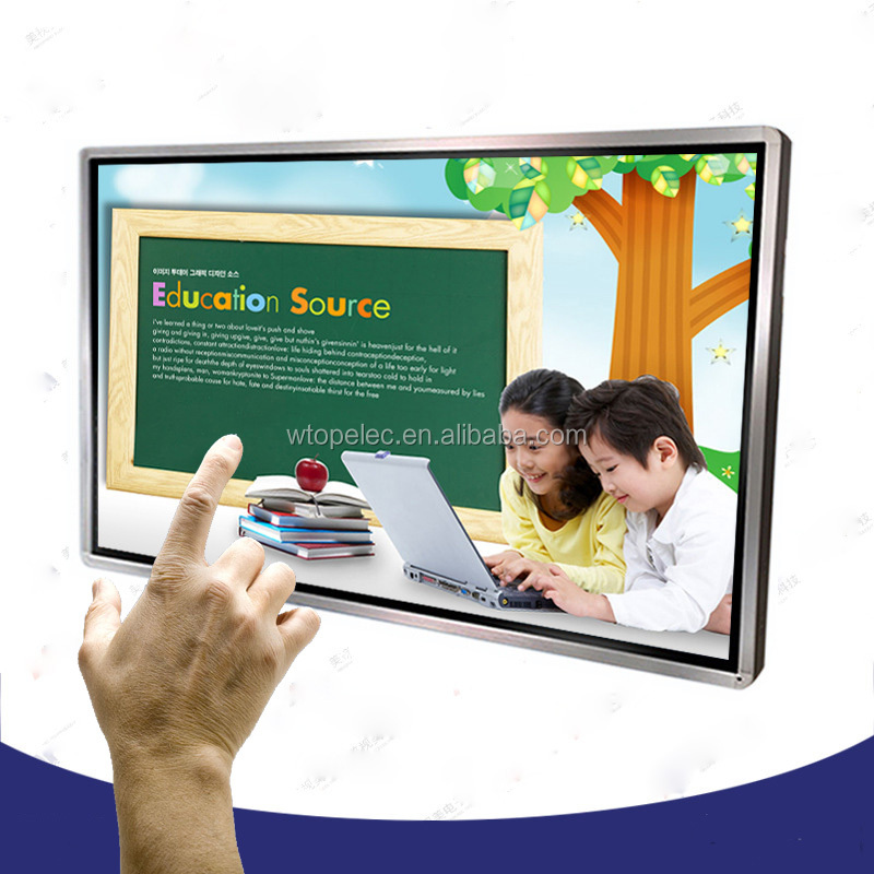 Wall mounted 32 inch Windowss All in one Touch Screen Teaching <strong>Computer</strong> for School use
