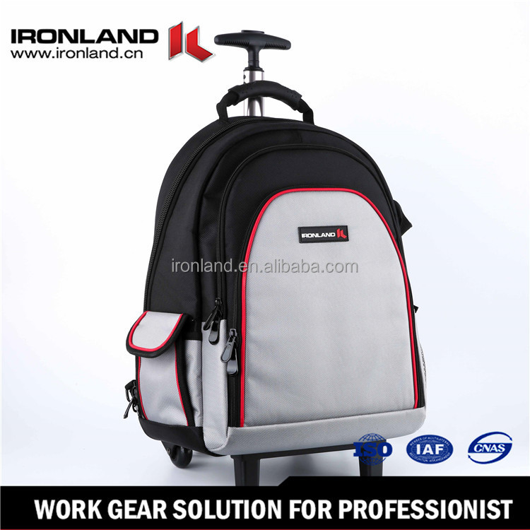 15'' 1680D Durable trolley rolling backpack/rolling tool bag with computer pocket