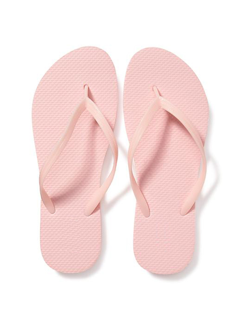 Solid Color Design Custom Wholesale Women Rubber Flip Flop