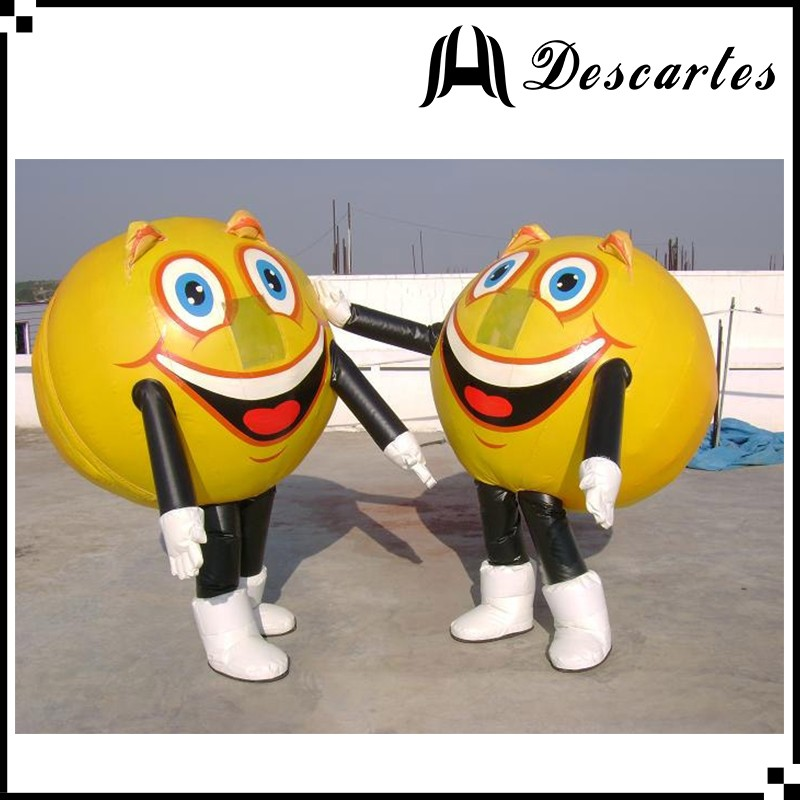 2016 hot sale custom made inflatable lemon walking costume for adults