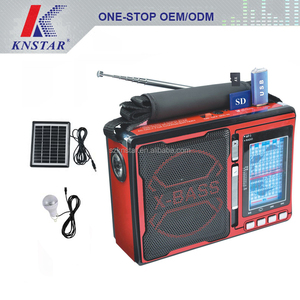 2017 best super powerful light emergency solar power radio with hand crank