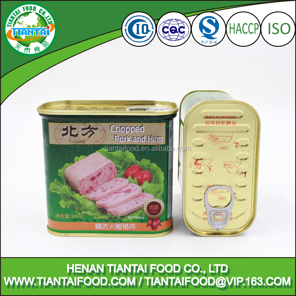 china top canned food brands canned chopped pork and ham