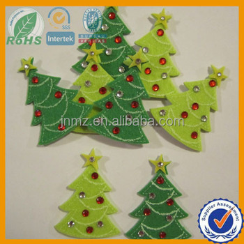 Wool felt christmas ornaments for decoration