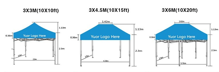 Cheap Pop Up Folding Tent , Gazebo Tents , Aluminium Frame Canopy Tent 3x3m For Outdoor