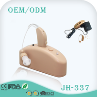 China manufacture bte audiphone rechargeable sound amplifier hearing aid