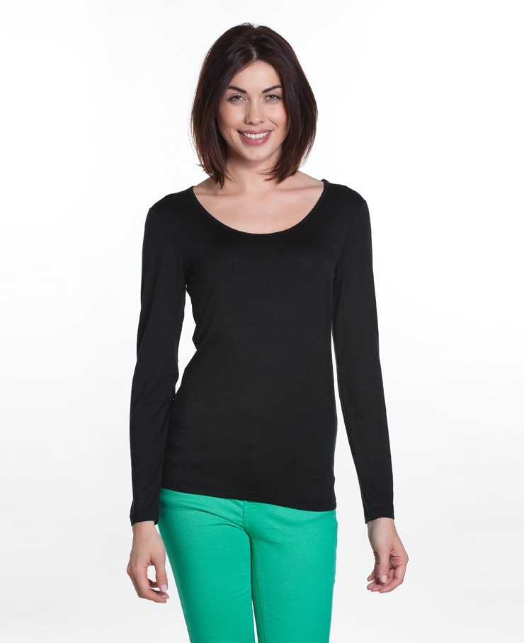 ROUND NECK LONG-SLEEVE T-SHIRT