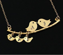 Mother's Gifts - Mom And Baby Bird - Metal Alloy Pendant Wholesale In Alibaba
