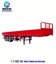 3 Axle 60 Ton Flat Bed Semi Trailer/Flatbed Trailer/Flatbed Semi Trailer