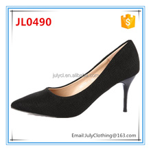2017 High Heel Italian Ladies Synthetic Leather Dress Shoes for Women